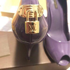 Louis Vuitton  Purple Peep Toe Pumps